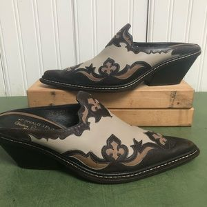 Donald J Pliner Italy Made Western Couture Mules